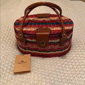 Patricia Nash wicker basket bag